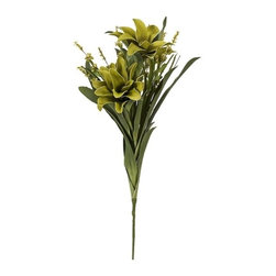 """IMAX - Essentials Green Apple Floral Bundle - Add a color coordinated organic boost to your decor with our beautiful floral arrangement, part of the Green Apple collection from Essentials by Connie Post. Item Dimensions: (31.5""""h x 11.80""""w x 5.90"""")"""