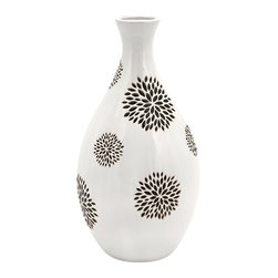IMAX CORPORATION - Essentials White with Black Flower Vase - Essentials White with Black Flower Vase. Find home furnishings, decor, and accessories from Posh Urban Furnishings. Beautiful, stylish furniture and decor that will brighten your home instantly. Shop modern, traditional, vintage, and world designs.