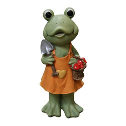 Alpine - Frog Girl In Orange Dress with Shovel Multicolor - Features:Dimensions: