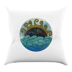 """Kess InHouse - Pom Graphic Design """"Oceania"""" Throw Pillow (18"""" x 18"""") - Rest among the art you love. Transform your hang out room into a hip gallery, that's also comfortable. With this pillow you can create an environment that reflects your unique style. It's amazing what a throw pillow can do to complete a room. (Kess InHouse is not responsible for pillow fighting that may occur as the result of creative stimulation)."""