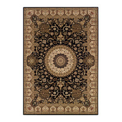 """Couristan - Himalaya Sarouk Rug 6257/1000 - 6'6"""" x 9'6"""" - This collection's wide appeal can work well with either contemporary or traditional interiors. Pull out one or more of the eight colors within the area rug to add a bit of elegance to your setting."""