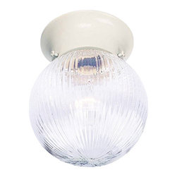 Volume Lighting - Volume Lighting V7303 Roth 1 Light Flush Mount Ceiling Fixture - One Light Flush Mount Ceiling Fixture from the Roth CollectionDecorate your home in style with this stunning 1 light flush mount ceiling fixture featuring dashing clear ribbed glass.Features: