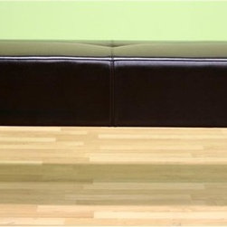 Wholesale Interiors - Baxton Studio Bugatti Bonded Leather Bench in Dark Brown - Designed with a neutral dark brown shade of bonded leather for the seat