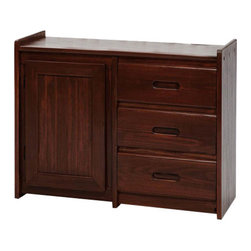 Chelsea Home Furniture - Chelsea Home 3 Drawer Dresser With Storage Door in Dark - Providing home elegance in upholstery products such as recliners, stationary upholstery, leather, and accent furniture including chairs, chaises, and benches is the most important part of Chelsea Home Furniture's operations. Bringing high quality, classic and traditional designs that remain fresh for generations to customers' homes is no burden, but a love for hospitality and home beauty. The majority of Chelsea Home Furniture's products are made in the USA, while all are sought after throughout the industry and will remain a staple in home furnishings.