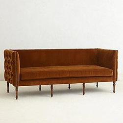 Anthropologie - Velvet Ditte Sofa - *French grey finish
