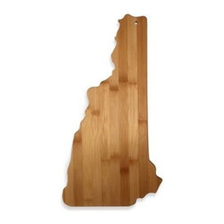 Totally Bamboo - Totally Bamboo New Hampshire State Shaped Cutting/Serving Board - Proudly show your state pride with this Totally Bamboo Cutting/Serving Board in the shape of your state. Both functional and decorative, it's great for serving snacks and chopping vegetables.