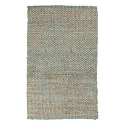 Surya - Surya Reeds REED-823 (Blue, Brown) 5' x 8' Rug - This Hand Woven rug would make a great addition to any room in the house. The plush feel and durability of this rug will make it a must for your home. Free Shipping - Quick Delivery - Satisfaction Guaranteed