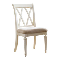 American Drew - American Drew Camden-Light Splat Side Chair in White Painted - Splat Side chair in White Painted belongs to Camden-Light collection by American Drew The Camden-Light collection melds simple forms with quiet traditional references, gentle curves and a beautiful time worn ivory finish that lets the character of the wood show through. The brushed nickel finish hardware adds even more character to the Camden collection. This line will work great in your renovated farm house or a smaller beach cottage get-away.