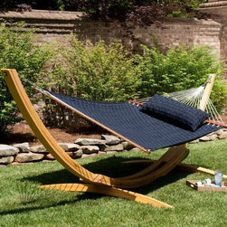 Hatteras Hammocks Large Soft Weave Hammock - Truly among the most comfortable hammocks on the market – and rest assured, the looks don't lie! Settle in atop the plush, wicker-woven quilted ribbons, and prepare yourself for absolute relaxation abandon.