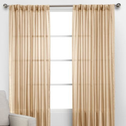 Z Gallerie - Coterie Panels - Adorn your windows in effortless style with our semi- sheer Coterie Panel. Created exclusively for Z Gallerie, our lightweight panels offer a stunning complement to a wide variety of décor settings.  Available in a pleasing shade of champagne, each of our Coterie panels are sold individually.