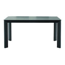 Baxton Studios Moira Black Wood Modern Dining Table
