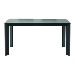 Baxton Studio - Baxton Studios Moira Black Wood Modern Dining Table - Don't let the simplicity of the Moira Dining Table fool you - sharp,