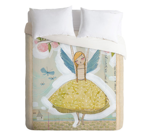 DENY Designs - Cori Dantini Make A Little Memory Twin Duvet Cover - This sweet duvet design seems made to grow with your girl. Its fairy print will appeal to dreamers, but the palette and style of the art won't be too saccharine for tweens or teens.