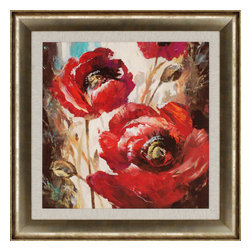Paragon - Dramatic Poppy - Framed Art - Each product is custom made upon order so there might be small variations from the picture displayed. No two pieces are exactly alike.