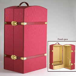 Carpatina - Carpatina and American Girl Dolls Trunk - Features: -Heavy stock and covered in deep red moiré taffeta. -Accented by gold hinges and locks and leather like trimmings. -Perfect for clothes storage. -Ideal for Carpatina dolls and American girl dolls.