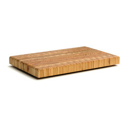 Cutting Boards - Larch Wood - Small Original Cutting Board. Butcher block end grain cutting board made from naturally antimicrobial larch wood
