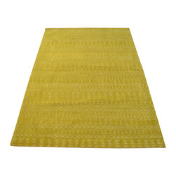 1800-Get-A-Rug - Overdyed Wool and Silk Green Modern Oriental Rug Hand Knotted Rug Sh12174 - About Modern & Contemporary