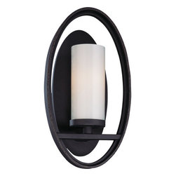 """Troy Lighting - Troy Lighting B2801 Eclipse 1 Light ADA Compliant Wall Sconce - Troy Lighting B2801 Eclipse 1 Light 12.25"""" High ADA Wall SconceThe intersecting geometric lines of ovals and cylinders of this wall sconce create a frisson of excitement when viewed.Troy Lighting B2801 Features:"""