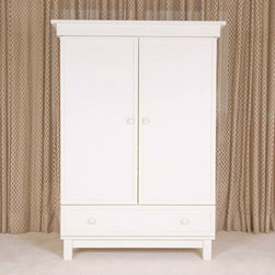 Bratt Decor Manhattan Armoire White - An armoire is a beautiful and practical way to store children's clothes and toys. I've used a classic barn wood armoire for my two children, and have loved how simply and beautifully it hides away the stuff. This very grand armoire will provide a beautiful grounding heft for your child's space, as well as eliminate the need for a clutter of furniture. I love its sleek white color and midcentury-modern vibe.