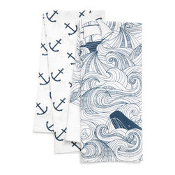 Swell Acquainted Tea Towel Set - I have a bit of a thing for fairytale-esque seascapes. This tea towel is gorgeous and probably too lovely to wipe dishes with.