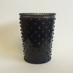 Frontgate - Simpatico Forest Night Hobnail Candle - Hand-poured. 100% vegetable wax blend is sourced from vegetables grown by American farmers. Long-lasting burn time of approximately 80 hours. Lead-free cotton wick. Hobnail glass can be reused as a vase. Candlelight gleaming through a lovely, colored, pressed-hobnail glass is enhanced by a gorgeous, nature-inspired scent in this Simpatico Forest Night Hobnail Candle. Bright and crisp, this fragrance features a hint of botanical notes and a deep musk.  .  .  .  .  . Made in the USA.