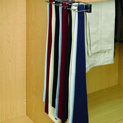 Product & Accessory Ideas - Mounted sliding tie and belt rack