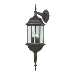 Kenroy - Kenroy 16267GBRZ Custom Transitional Outdoor Wall Sconce - With 5 different potential looks, Custom Fit will let your creative light shine.  Available in Black, Rust or White finishes, you can combine the finials, tails and glass into multiple configurations to find the one that will be just right for your outdoor space.  *Cast Aluminum
