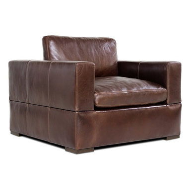 Leather Club Chair - Not available online. Please contact store for details.
