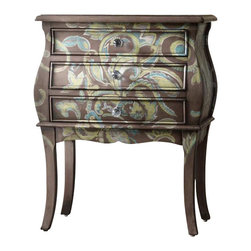 Hooker Furniture - Hooker Furniture Melange Paisley Accent Chest in Woodsy Brown Painted - Hooker Furniture - Accent Chests - 63850081 - Come closer to Melange and you will discover something unexpected an eclectic blending of colors textures and materials in a vibrant collection of one-of-a-kind artistic pieces.