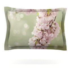 "Kess InHouse - Catherine McDonald ""Cherry Blossom"" Pillow Sham (Cotton, 40"" x 20"") - Pairing your already chic duvet cover with playful pillow shams is the perfect way to tie your bedroom together. There are endless possibilities to feed your artistic palette with these imaginative pillow shams. It will looks so elegant you won't want ruin the masterpiece you have created when you go to bed. Not only are these pillow shams nice to look at they are also made from a high quality cotton blend. They are so soft that they will elevate your sleep up to level that is beyond Cloud 9. We always print our goods with the highest quality printing process in order to maintain the integrity of the art that you are adeptly displaying. This means that you won't have to worry about your art fading or your sham loosing it's freshness."