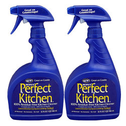 The Hope Company - Hope's Perfect Kitchen Cleaning Spray 32 oz. (Pack of 2) - Hope's Perfect Kitchen is a new 100% residue-free kitchen cleaner specifically developed for those who are frustrated with the smeary film ordinary cleaners can leave behind.  Thanks to its unique no-residue formula, Hope's Perfect Kitchen cleans completely, leaving countertops, stovetops, appliances, faucets, sinks, laminate, stainless steel, tile, porcelain, sealed granite, sealed marble and chrome looking perfect!