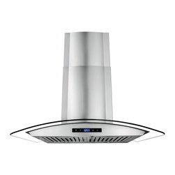 "AKDY - AKDY AK-Z668AS Euro Stainless Steel Wall Mount Range Hood, 30"", Duct/Pipe - One of the original curved glass canopy range hoods, AKDY 668AS has become an icon by virtue of its timeless design. Now upgraded with suppression System, 668AS takes range hood detail and performance to higher grounds. outfitted with dual LED light bulbs and electronic controls, 668AS is as relevant today as it was the day we introduced it in 2008."