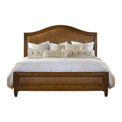 Hooker Furniture - Hooker Furniture Windward Raffia Bed in Light Brown Cherry-California King - Hooker Furniture - Beds - 112591860 - Envision furniture with a relaxed and laid back feeling.