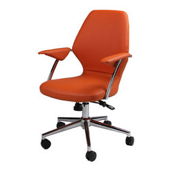 Pastel - Desk Chair in Orange - The Ibanez office chair is beautifully crafted chair that works in any and every office space. This chair will brighten any room and features executive styling that will be ideal in modern, open spaces.