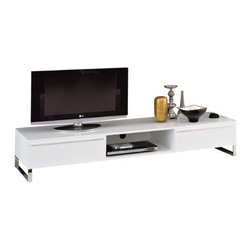 "Domitalia - Life 71"" TV Stand - Features: -Life collection. -MDF lacquered frame. -Lacquered metal support. -1 Year manufacturer's warranty."