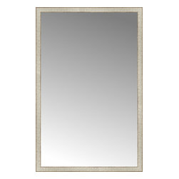 "Posters 2 Prints, LLC - 39"" x 60"" Libretto Antique Silver Custom Framed Mirror - 39"" x 60"" Custom Framed Mirror made by Posters 2 Prints. Standard glass with unrivaled selection of crafted mirror frames.  Protected with category II safety backing to keep glass fragments together should the mirror be accidentally broken.  Safe arrival guaranteed.  Made in the United States of America"