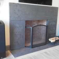 Transitional Fireplace Mantels by Concrete Encounter, LLC
