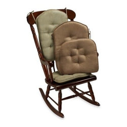 Klear-vu Corporation - Spill Guard The Gripper Twillo Two-Piece Rocker Chair Pad Set - Attractive rocker chair pad set has superior liquid repellency which in turn minimizes stains. The latex backing of the bottom pad makes it slip resistant so there's no need for strings.