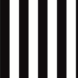 """Patton - Bw28702 Stripe Wallpaper - BW28702 from Black & White 2 is a 20.5""""/52 cm wide wallpaper with a stripe pattern in black and white.  This collection from Patton is prepasted and solid vinyl."""