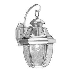 Livex - Livex Monterey Outdoor Wall Lantern 2151-91 - Finish: Brushed Nickel