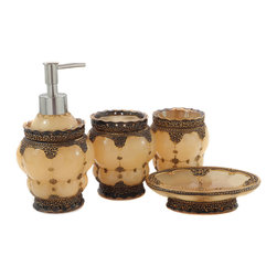 Dream Bath - Dream Bath Royal Palace 4 Piece Bathroom Accessories Collection Set - Dream Bath focuses exclusively on the design and creation of exquisite and practical accessories.