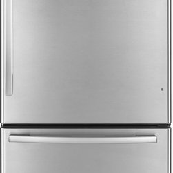 Whirlpool 18.5 cu. ft. Bottom-Freezer Refrigerator - Well priced stainless refrigerator with a bottom drawer. Hard to beat for the price.