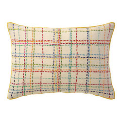 Company C Pillow Criss Cross - It can be hard to add delicate touches to a little boy's room without it coming off as too girly. Which is why I love this criss cross and colorful pattern on this pillow. A subtle way to incorporate bolder colors.