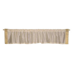 Indian Selections - Pair of Cream Rod Pocket Top It Off Handmade Sari Valance, 43 X 20 In. - Size of each Valance: 43 Inches wide X 20 Inches drop
