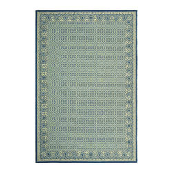 Safavieh - Amable Hand Hooked Rug, Ivory / Light Blue 4' X 4' - Construction Method: Hand Hooked. Country of Origin: China. Care Instructions: Vacuum Regularly To Prevent Dust And Crumbs From Settling Into The Roots Of The Fibers. Avoid Direct And Continuous Exposure To Sunlight. Use Rug Protectors Under The Legs Of Heavy Furniture To Avoid Flattening Piles. Do Not Pull Loose Ends; Clip Them With Scissors To Remove. Turn Carpet Occasionally To Equalize Wear. Remove Spills Immediately. Wilton collection, a line of coordinated rugs and broadloom that re-creates classic Wilton patterns in a proprietary hand-hooked construction.