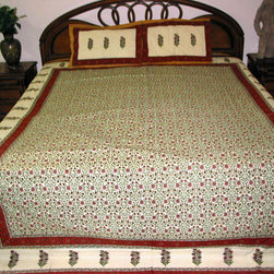 Indian Inspired Bedspreads - Add traditional touch to your home by using of these Indian inspired bedspreads.