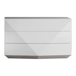 Rossetto - Rossetto Sapphire White Dresser in White - Rossetto - Dressers - T350400000017 - Offers its individual expression of elegance and lightness with style. This beautiful dresser will go perfectly with your room. Complete your Sapphire collection with this case good.