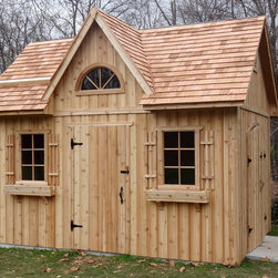 Summerwood Product - Copper Creek Shed - This Michigan customer, inspired by one of our past buildings recreated it, resulting in a beautiful and practical storage space which redefines the yard. Its quite grand too, 140 square feet to be exact!
