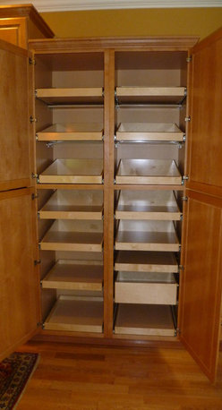 Cabinet Pantries - ShelfGenie pull out pantry shelves are custom-crafted in the United States, ensuring the high quality that ShelfGenie has come to stand for.