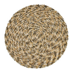 St Croix Trading - Brown Shagadelic Chenille Twist Swirl Rug (3' Round) - Whether you call them spongy,squishy,plush,lush,sumptuous,or springy,the Shagadelic Chenille Twist Swirl is the ideal choice for kids to roll around on,to make a statement in a dorm room,to accent a new baby's room,or step out onto from the tub.